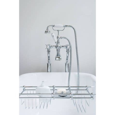 3521/1 Perrin & Rowe Bath Shower Mixer Tap & Extended Unions